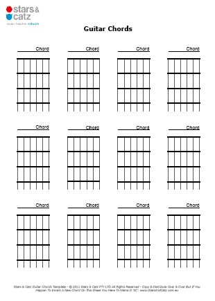 Blank Guitar Music Sheets With Chords - sheet music for piano and ...