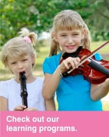 We have music teaching programs to suit everyone! Check them out!