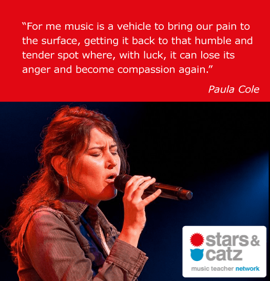 Paula Cole Music Quote.