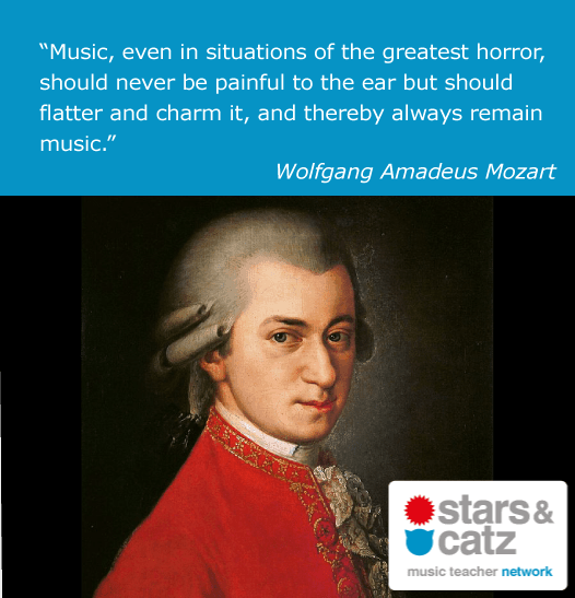 Wolfgang Amadeus Mozart Music Quote.