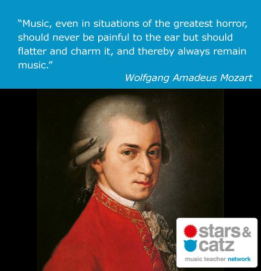 Wolfgang Amadeus Mozart Music Quote.